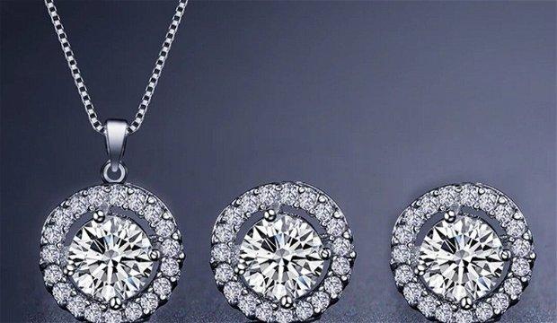 Bijuterii argint si cristale zirconiu