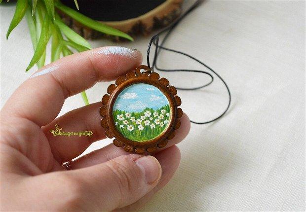 Medalion cu peisaj