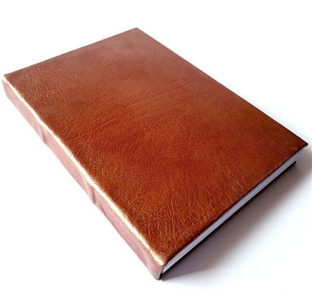 Semn de carte - MARO-CARAMEL - piele naturală