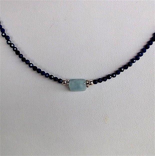 Lapis lazuli si acvamarin