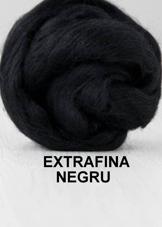 lana extrafina -NEGRU-50g