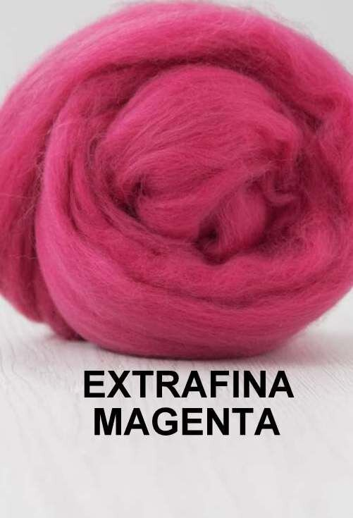 lana extrafina -MAGENTA-50g