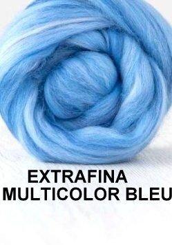 lana extrafina -MUTICOLOR BLEU-50g
