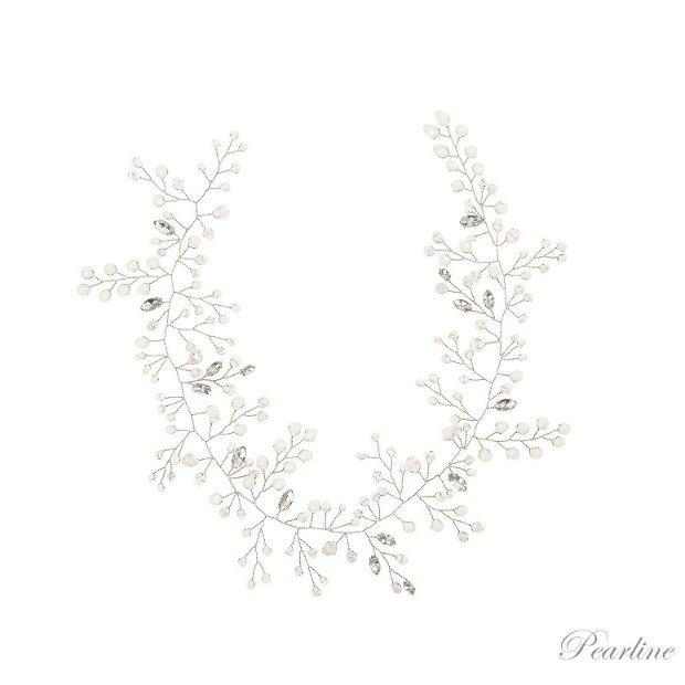 Accesoriu de par lung cu cristale Elegant Twig