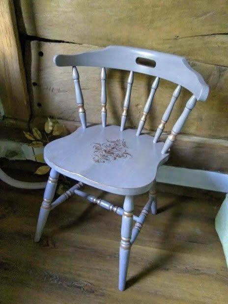 Scaun cu spatar,din lemn masiv