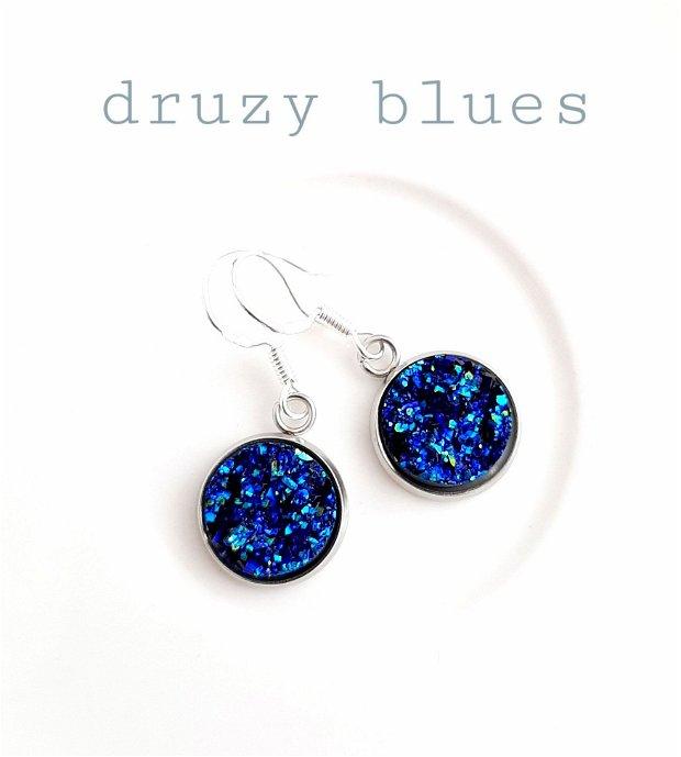 Cercei argint druzy albastru