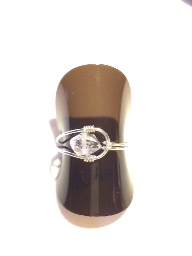 Inel Diamant Herkimer cu argint 925 (797)