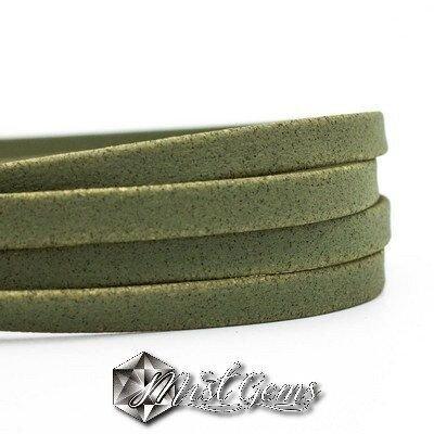 Banda din pluta 10X1mm verde-kaki COR037