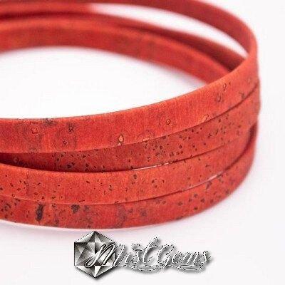 Banda din pluta 10X2mm rosu COR040