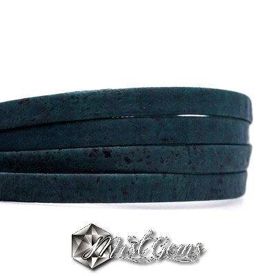 Banda din pluta 10X1mm bleumarin COR043