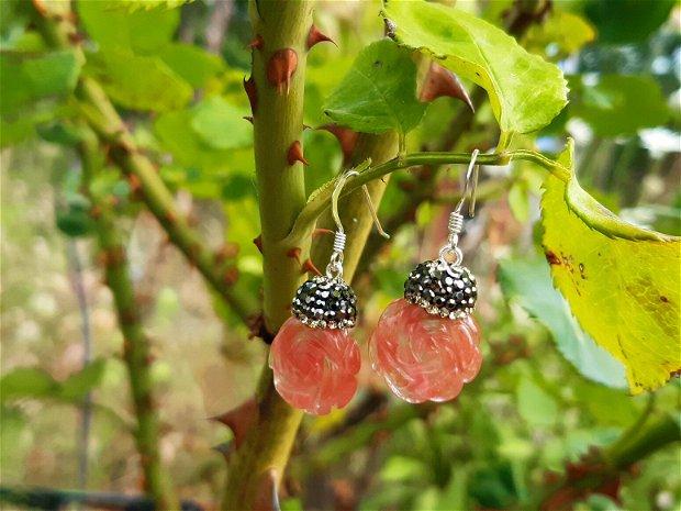Cercei cherry quartz