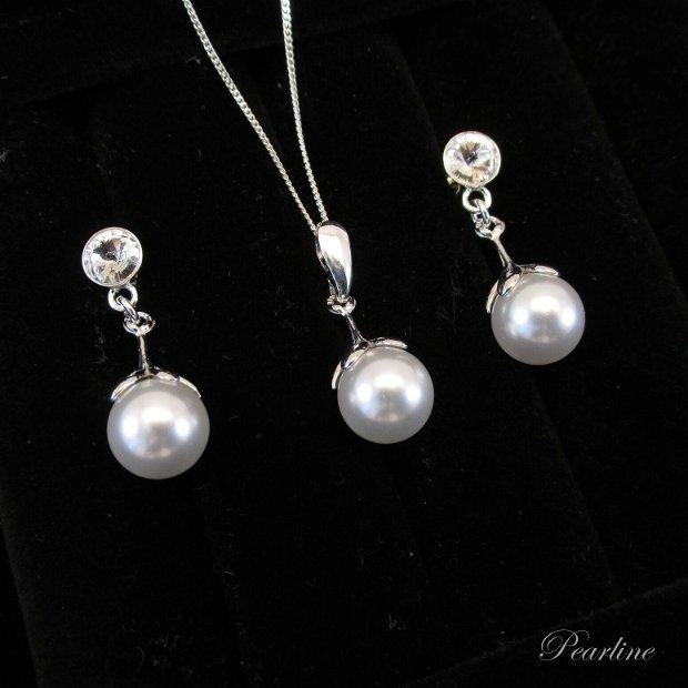 Set din argint cu perle  Flower Pearls
