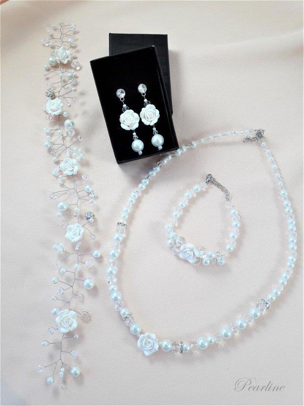 Set bijuterii mireasa cu flori  Mini Fairy Tale