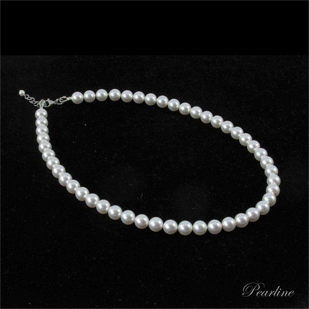 Colier clasic perle Swarovski 8 mm