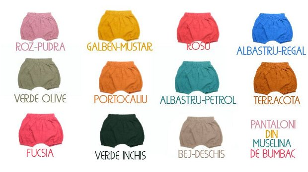 Pantaloni comozi din muselina de bumbac-MUSTAR