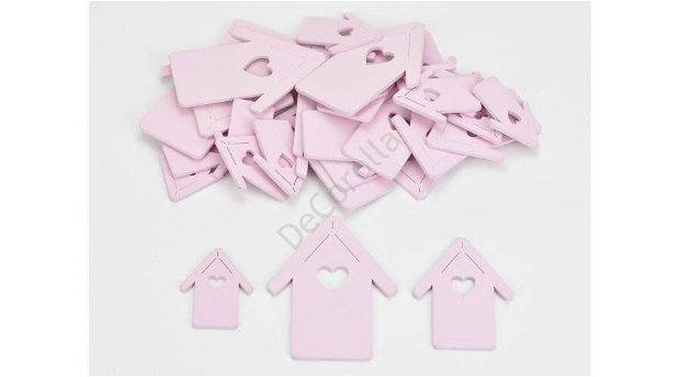 Figurine din lemn- casute roz 4386P