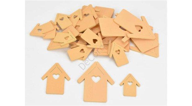 Figurine din lemn- casute pierscica  dif. marimi- 4386PE