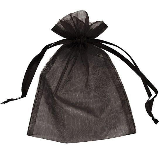 Saculet organtza negru