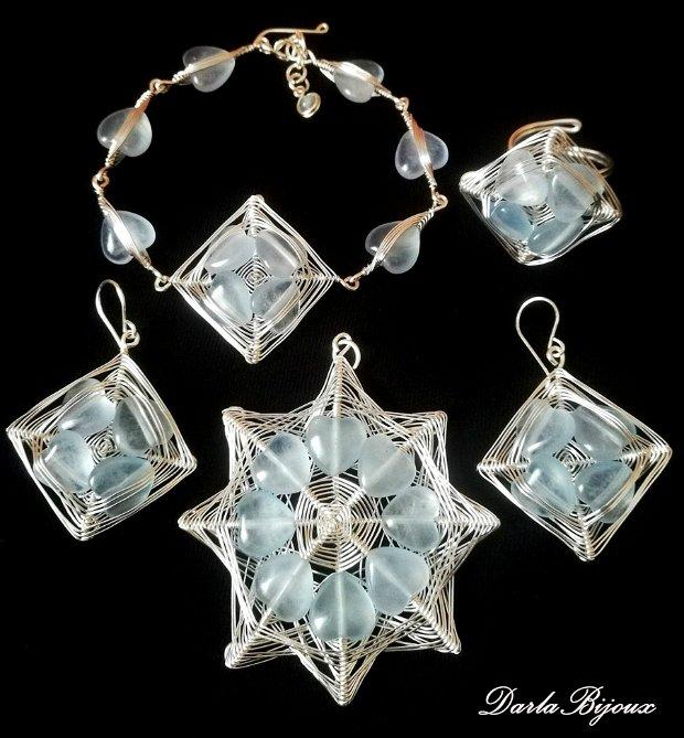 Set inimioare jad bleu