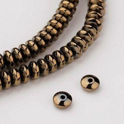 10 buc.Hematit rondele culoare bronz -4X2mm SP900