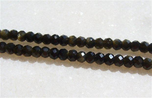 Obsidian auriu fatetat sir de aprox 39.5 cm - fara inchizatoare