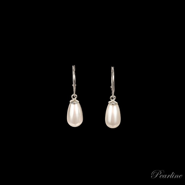 Cercei argint perle Drop Fashion Swarovski