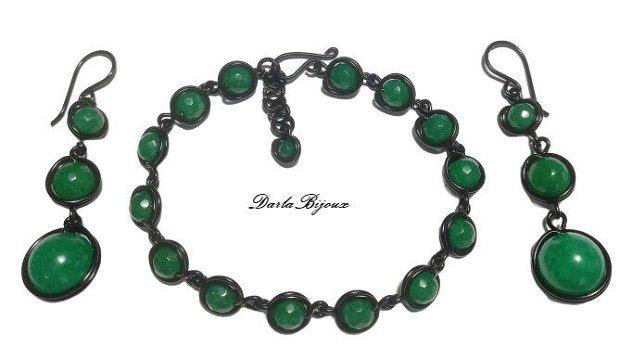 Set jad verde cu negru