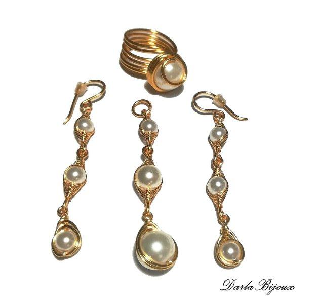 Set perle albe