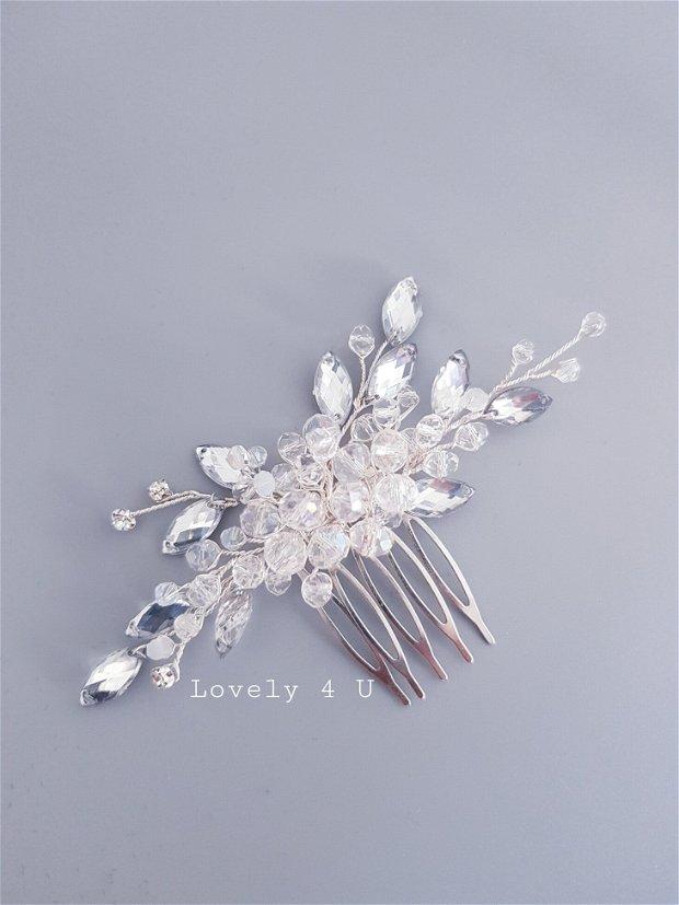 Accesoriu par mireasa Antonia, Accesoriu cu cristale și pietricele