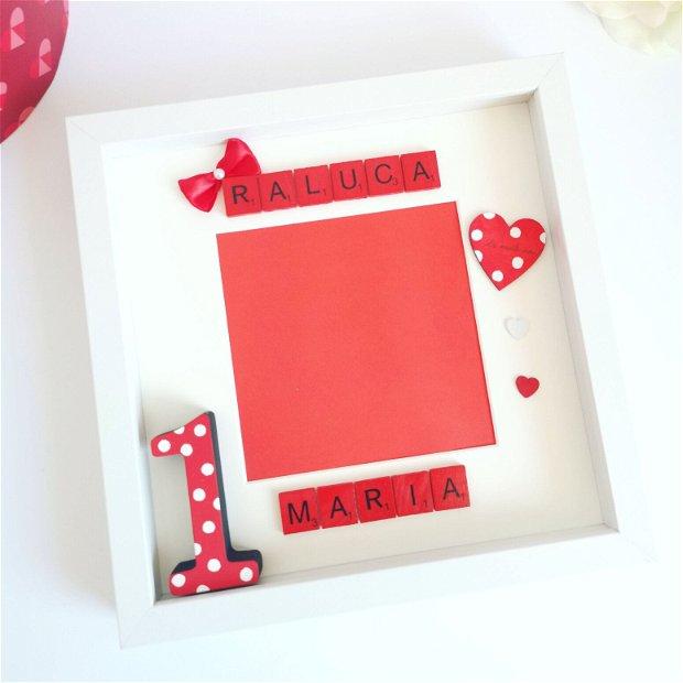 Rama foto aniversare 1 an | Ramă decorativă Minnie Mouse | Cadou tăierea moțului