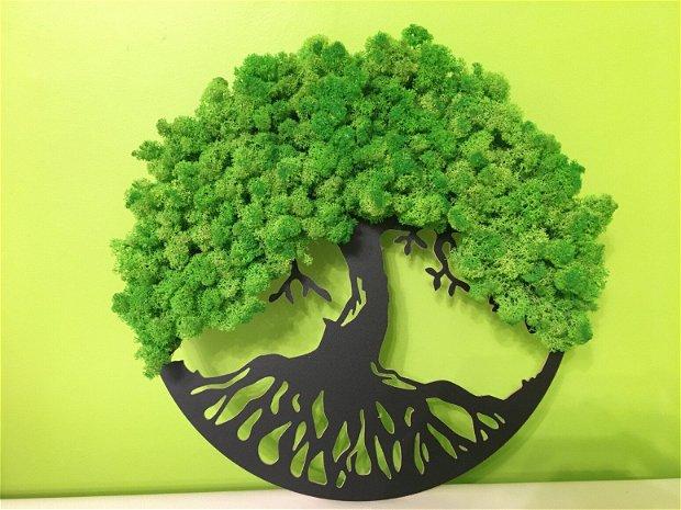 Arborele vietii decoratiune licheni