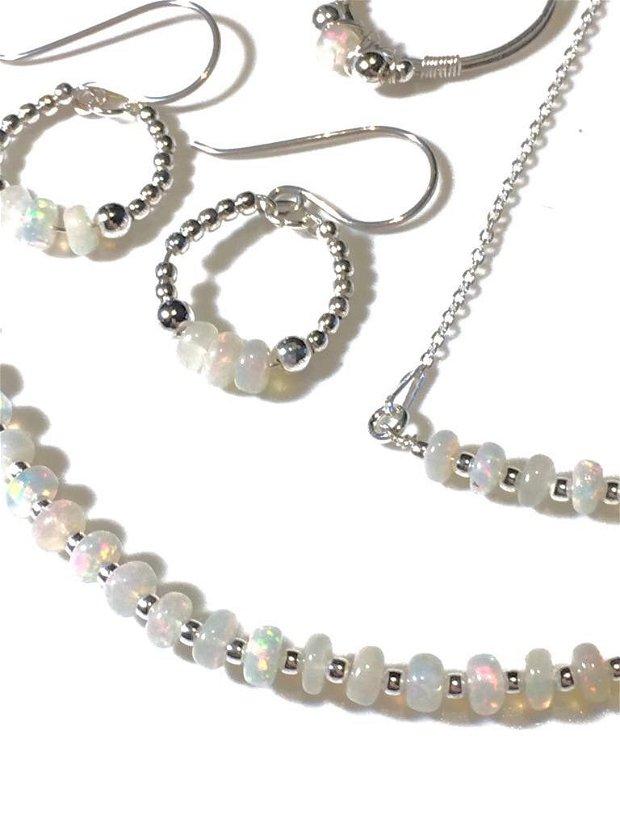 Set opal etiopian si argint (846)