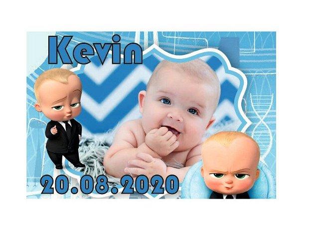 Marturie botez, Baby Boss, Magnet,10x7.5 cm