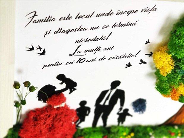 Tablou licheni Family / Familia A3