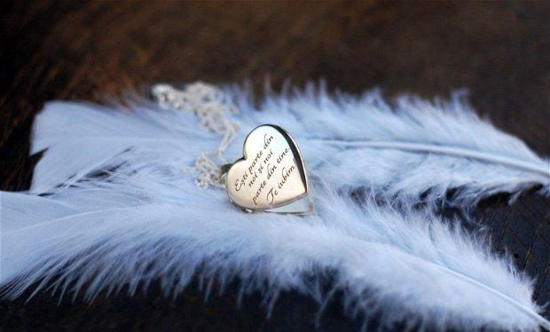 Colier personalizabil din argint suport poze, cadou aniversare / Craciun / 8 martie / Dragobete / Valentine's Day sotie / prietena