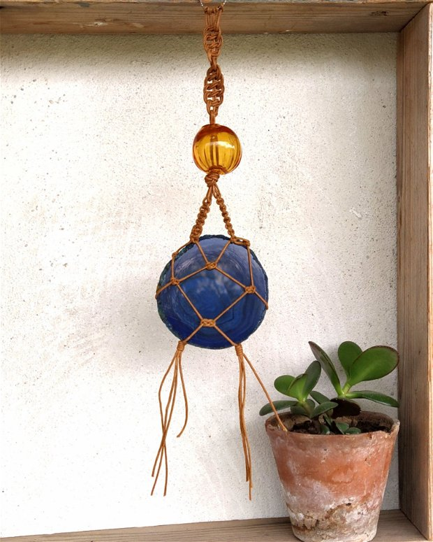 Decoratiune cu felie de agat