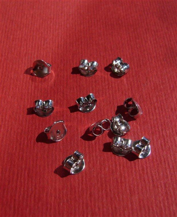 (2 bucati) Stopper din argint .925 rodiat de aprox 5x5x3 mm