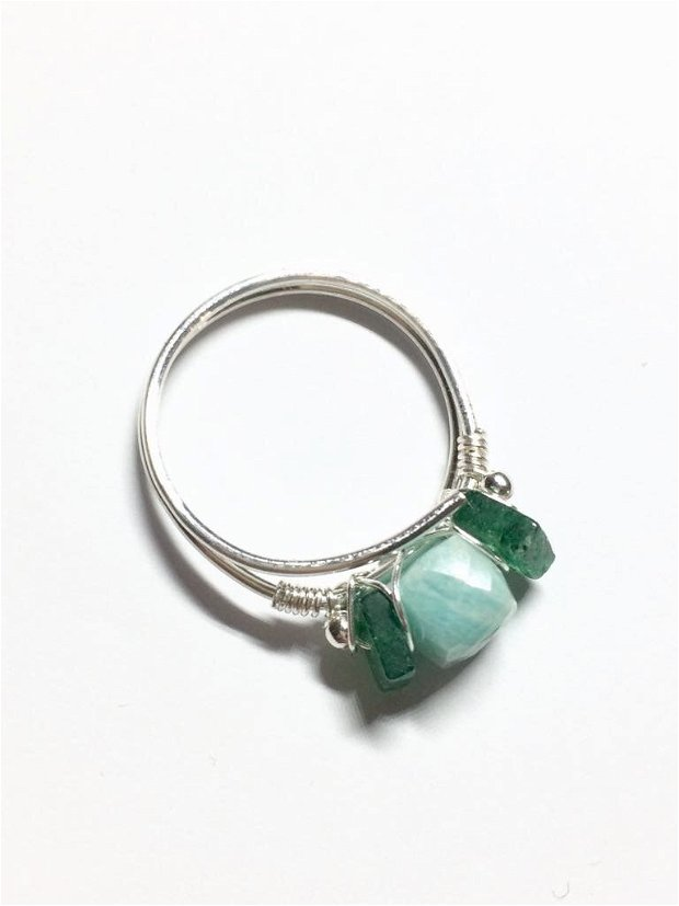 Smarald, amazonit si argint (860)