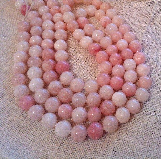 Opal roz natural, 39 cm, sfere