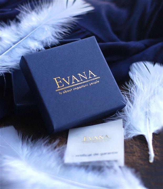 Bratara pentru dama din piele naturala si argint personalizabila