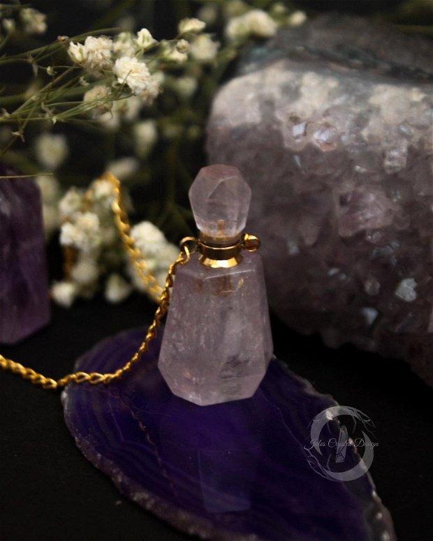 Colier Sticluta de Parfum din cristale