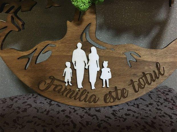 Arborele vietii decoratiune licheni - Familia este totul !