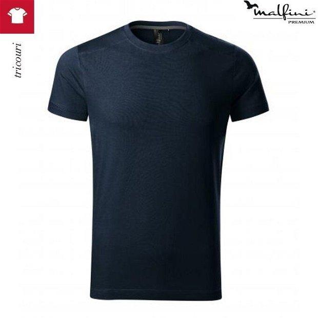 Tricou albastru marin barbati din bumbac si elastan, Action