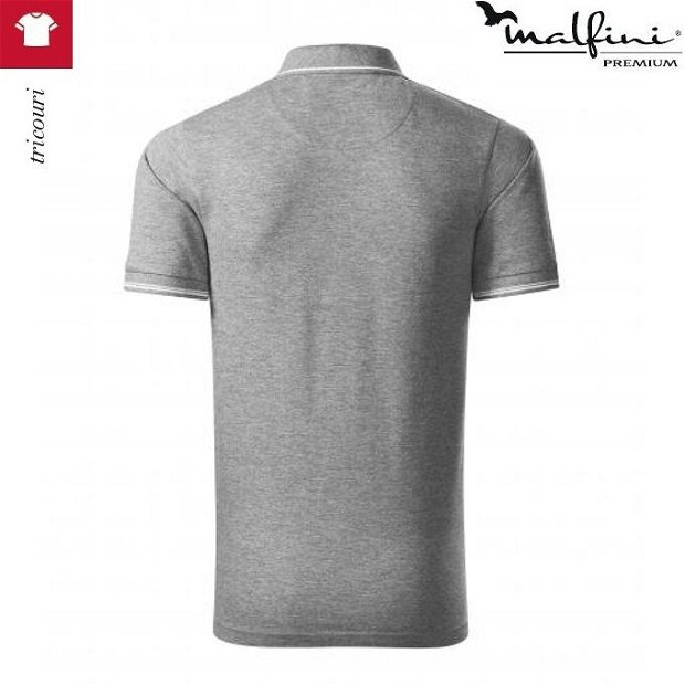 Tricou polo gri inchis barbati, Perfection Plain