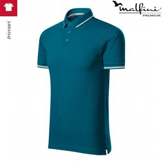 Tricou polo albastru petrol barbati, Perfection Plain