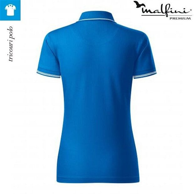 Tricou polo albastru frantuzesc/snorkel blue dama, Perfection Plain