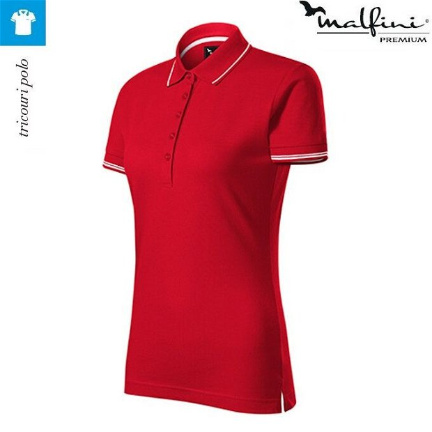 Tricou polo rosu dama, Perfection Plain