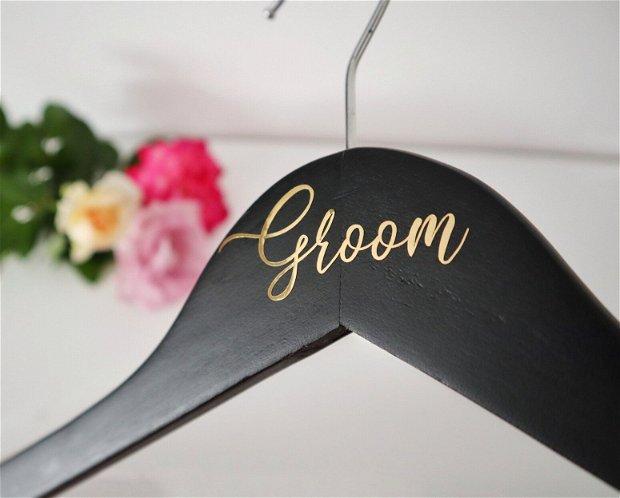 Set umerase elegante pentru mire si mireasa Golden foil