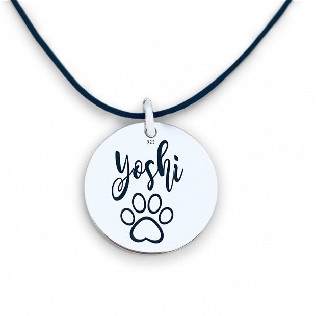 Medalion Caini sau Pisici Personalizat cu Nume&Simbol