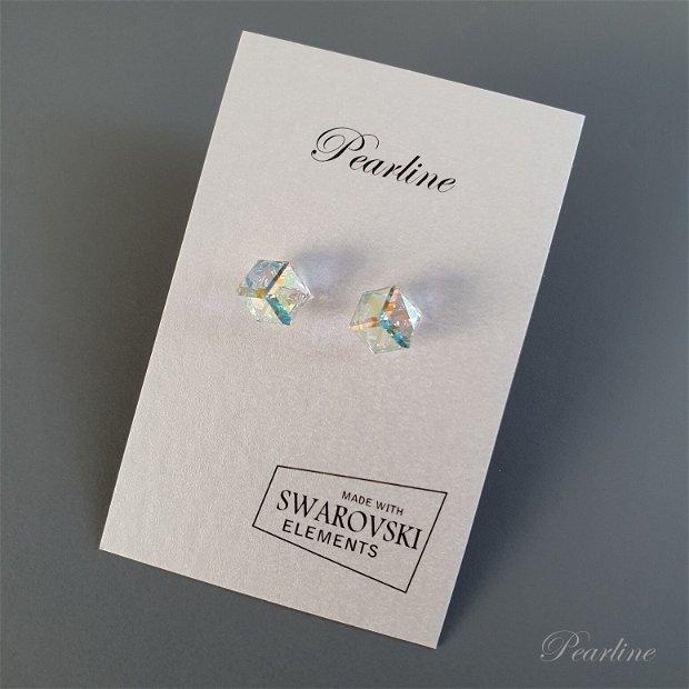 Set cercei si choker cristale cub Swarovski